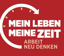 Logo zur Kampagne Arbeitszeit