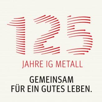 Logo für das Jubiläumsjahr: 125 Jahre IG Metall